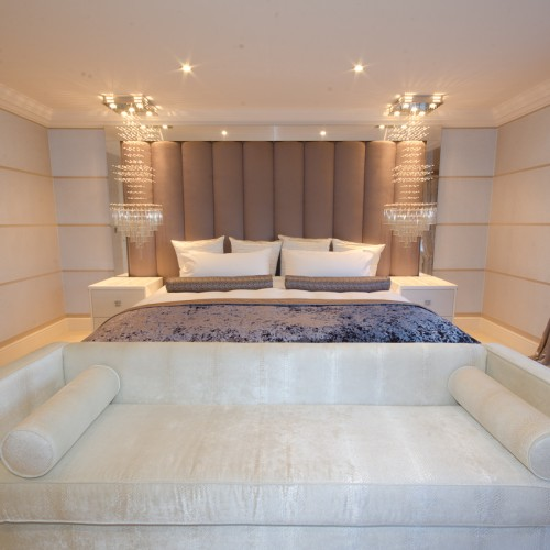 Glamorous modern bedroom Interior design for home in staffordshire
