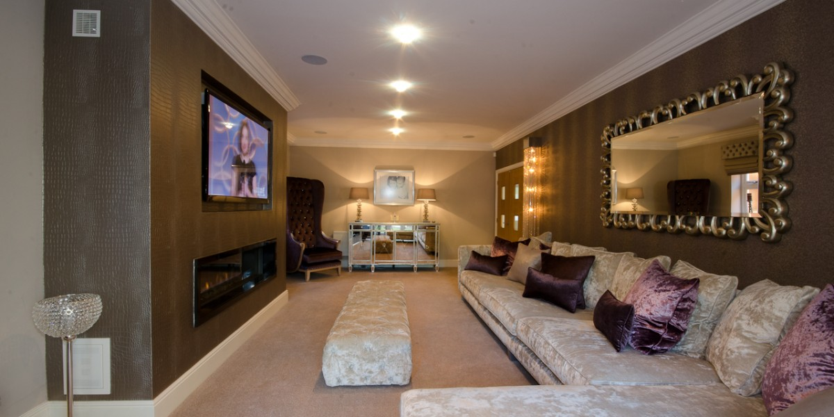 luxury sitting room interior