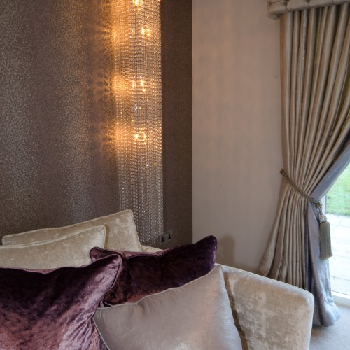 Luxury crystalised lighting for modern glamorous home