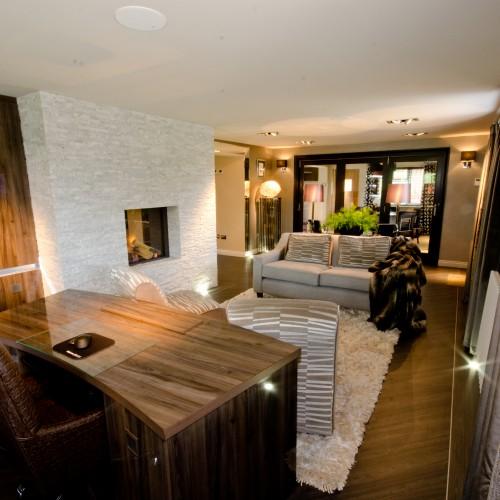 Luxurious study interior design warwickshire