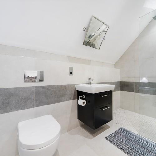 modern apartment bathroom