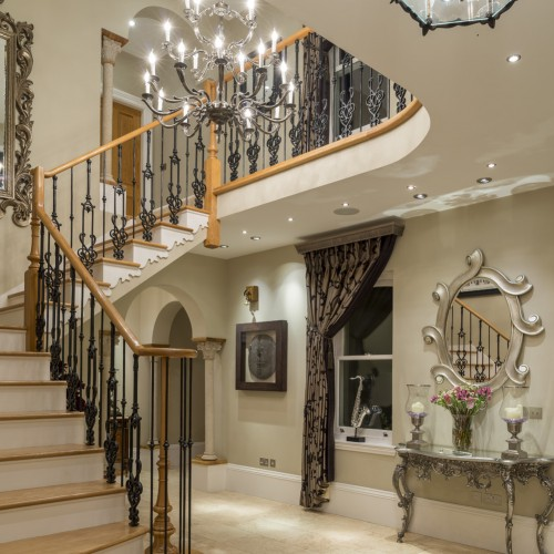 modern classic country house stairway