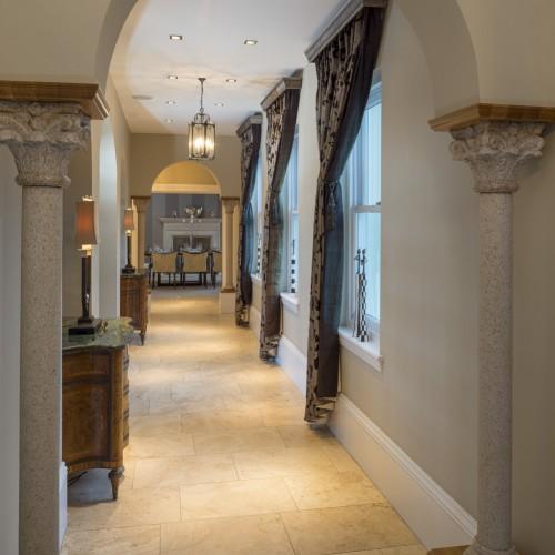 Modern Classic hallway design