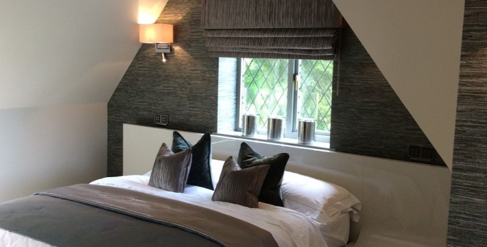 Epoca bespoke manufactured bed. Interior designers in west midlands
