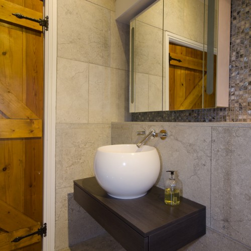 Contemporary Bathroom Design for Barn in Warwickshire
