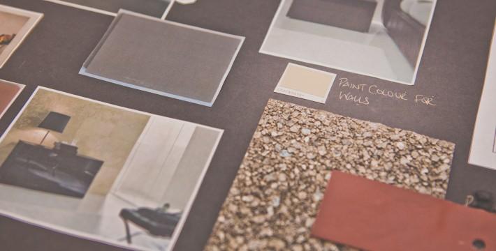 Interior design proposal board