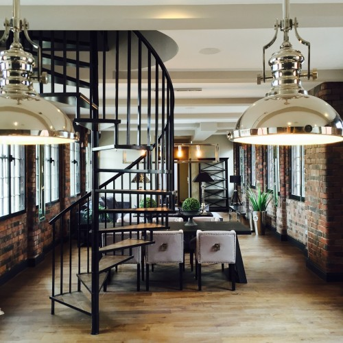 Loft apartment dining room