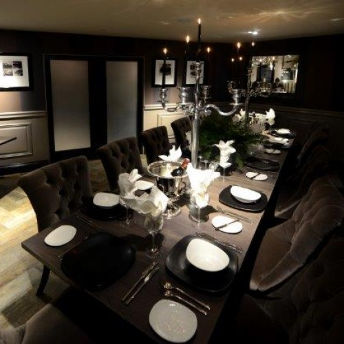 Full view of fine dining interior design in shenstone