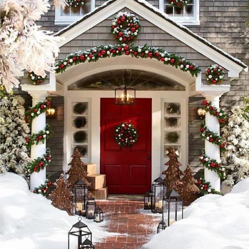 Luxury Christmas Porch decor