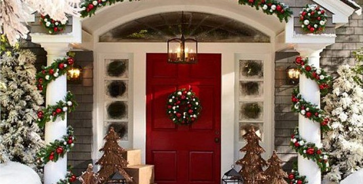 Luxury Christmas Porch decor