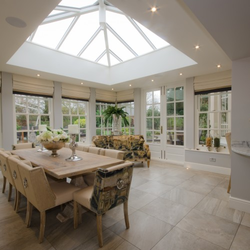Orangery Dining Room Interior Design Stafforshire