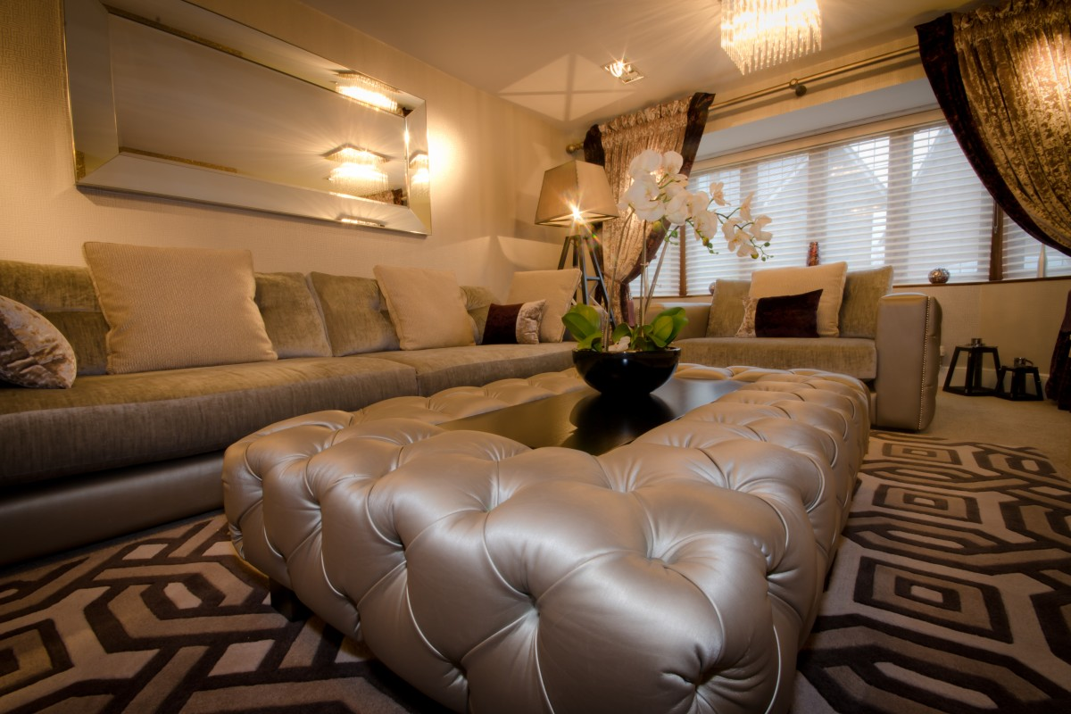 Upholstered coffee table interior furnishings