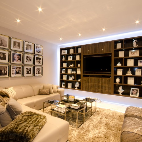 Bespoke Furniture design with framed celebrity art work