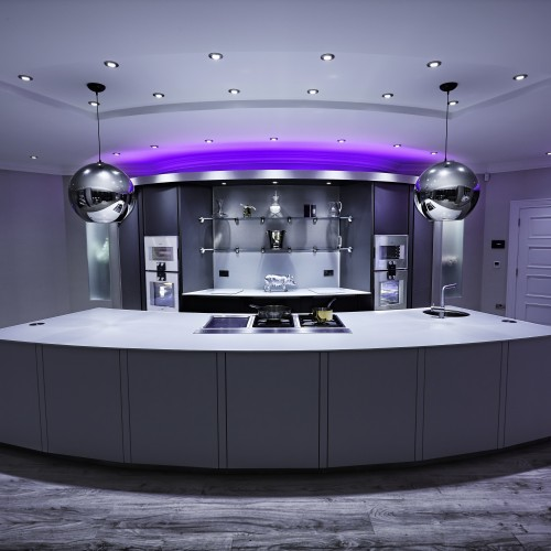 Kitchen interior design with bespoke LED lighting