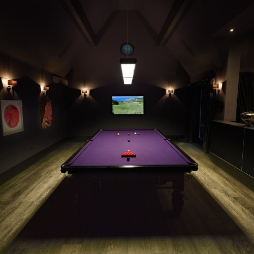 Function room design with snooker and bar