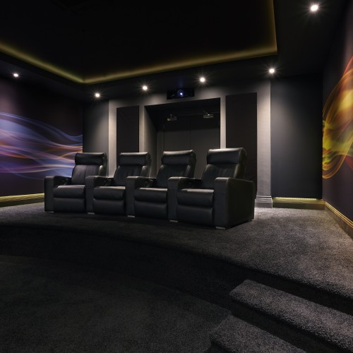 Cinema room interior design scheme