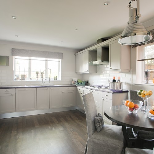Modern Kitchen interior design for executive home with soft, neutral colours
