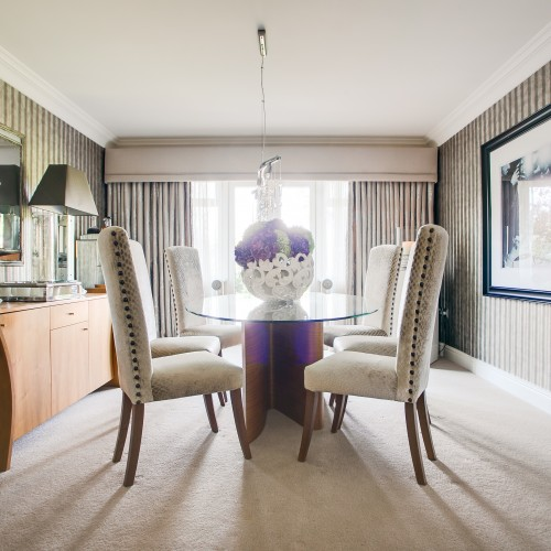 Executive home dining room interiors sutton coldfield