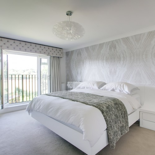Master bedroom interior design with neutral colour tones - sutton coldfield