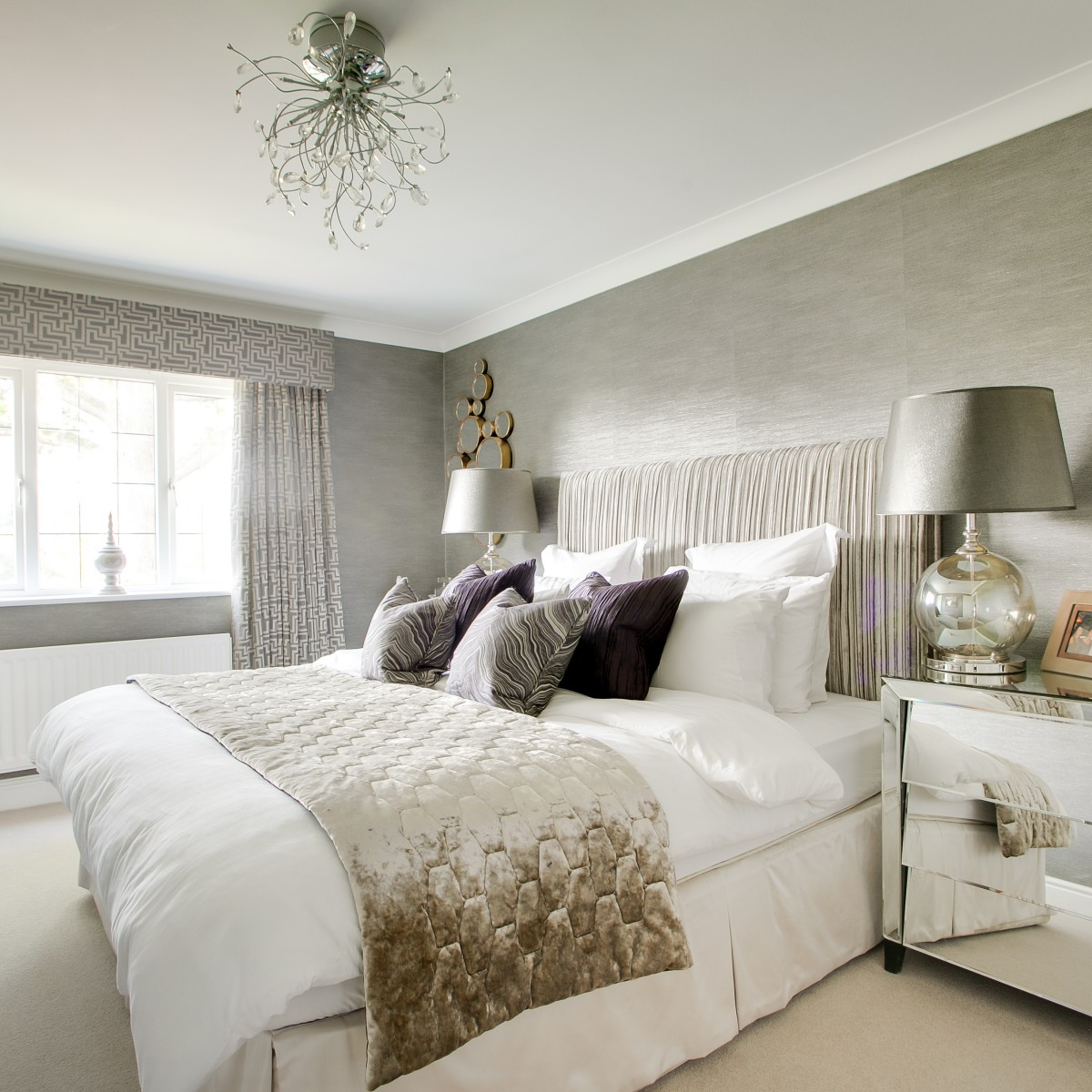 Modern classic executive guest bedroom design