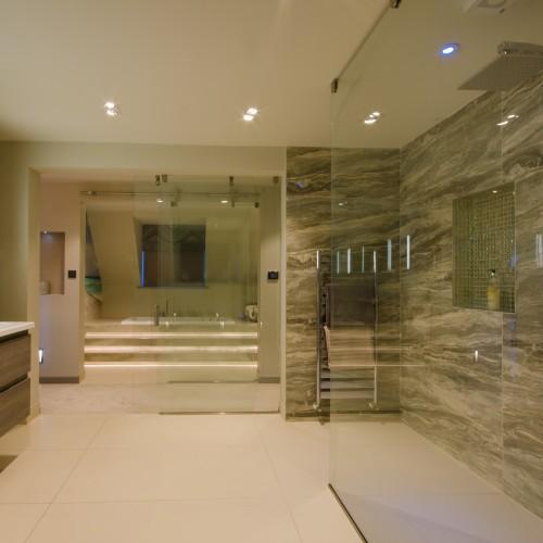 split level bathroom